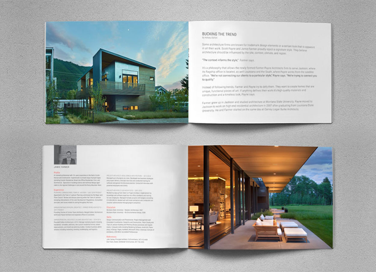 Seattle Architecture Firm Brochure Design